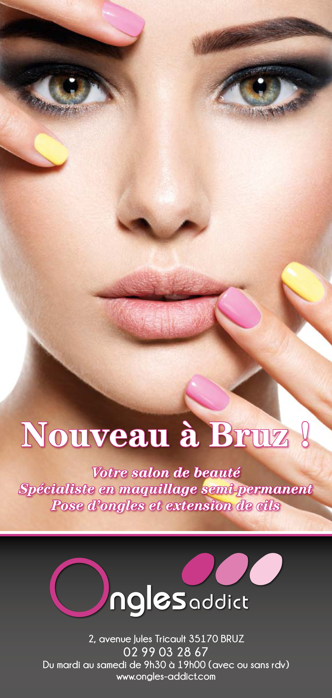 Ongles Addict Institut Ouverture Bruz 10x21 Recto